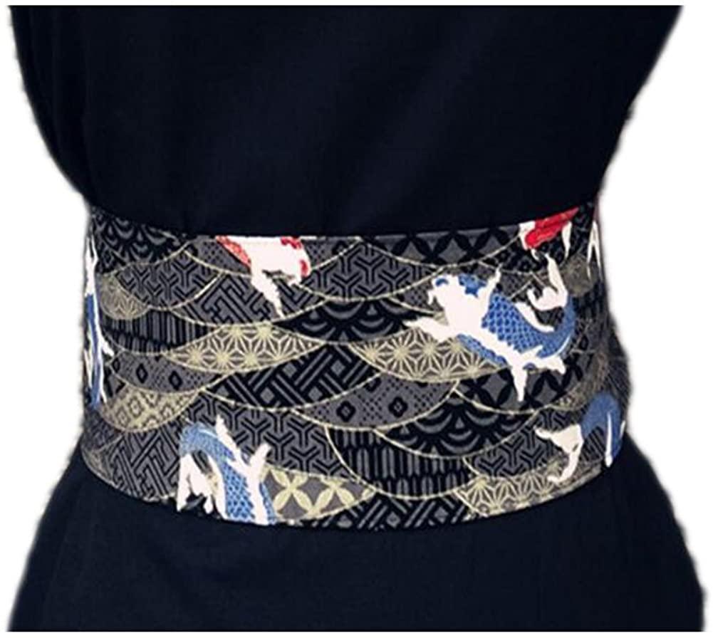 Japanese Retro Kimono Taille Belt Kimono Printing National Waist Sealing 10 CM, 03