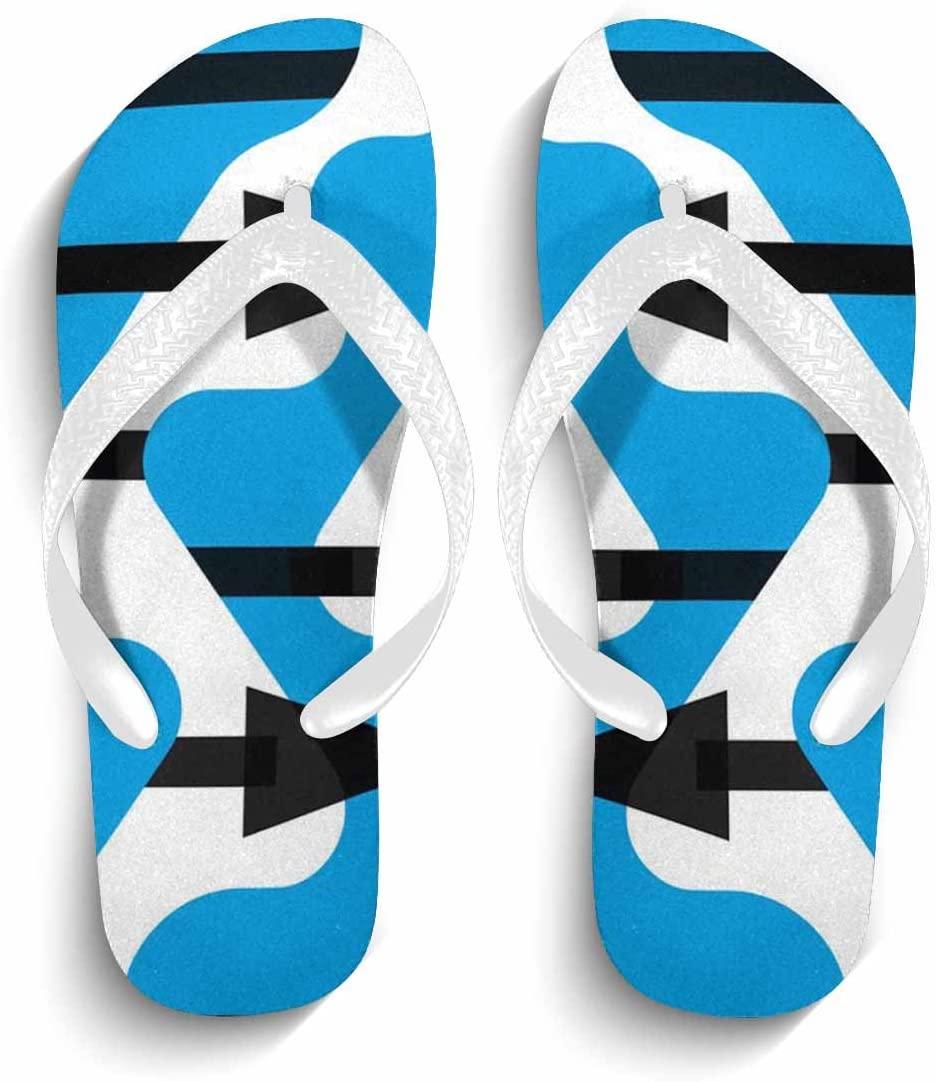 Eric Carl Mens Casual Fashion Flip Flops Beach Sandals Anti-Slip Slippers