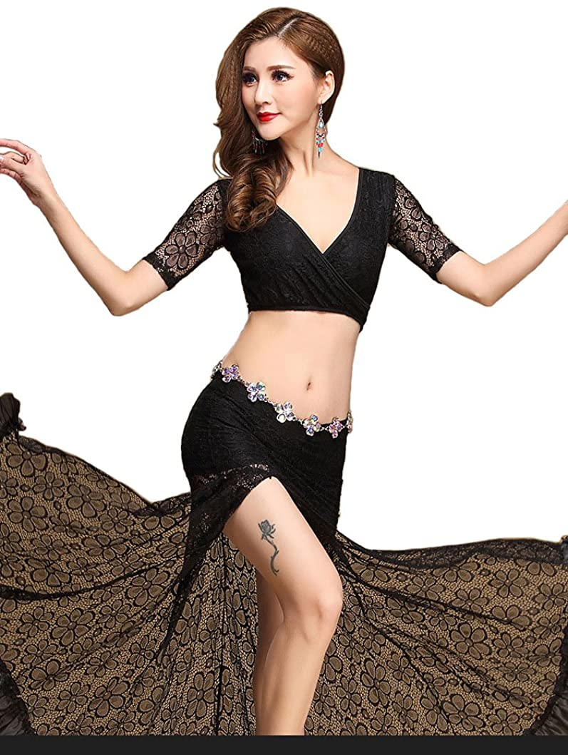URdream Lady's Lace Belly Dance Costumes India Dance Outfit Halloween Carnival