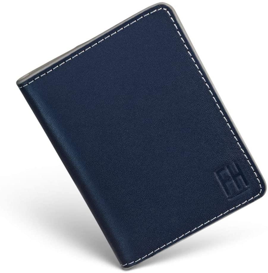 F&H Signature RFID Bifold Wallet (Navy/Stone (Contrast-Stitch))