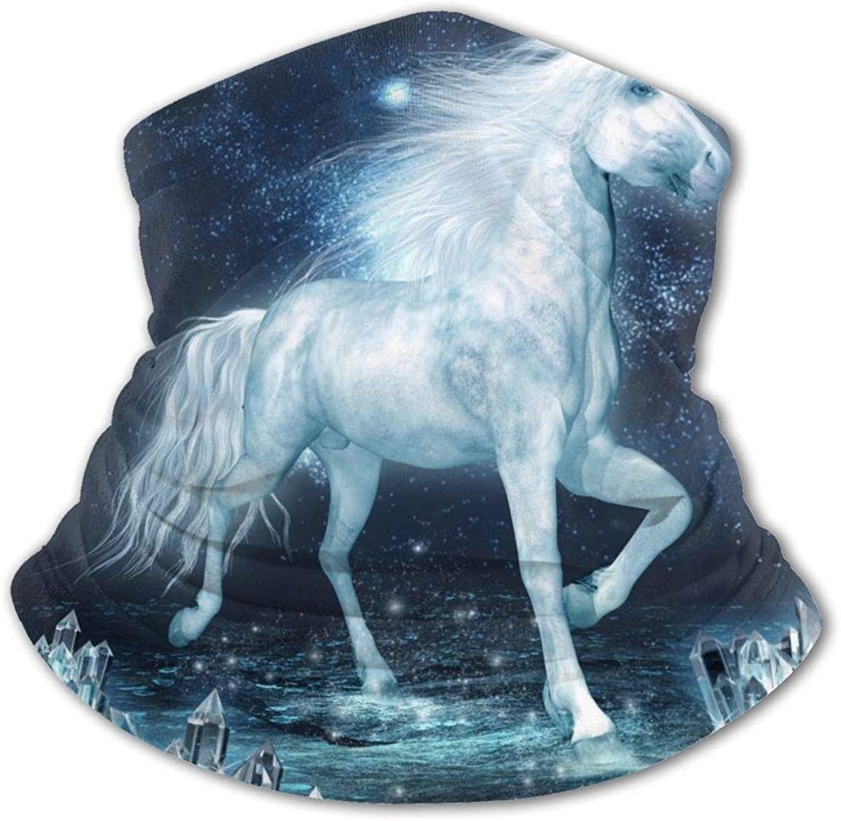 Crystal Unicorn Horse Face Mask Bandanas Uv Protection Dust Neck Gaiter Headband
