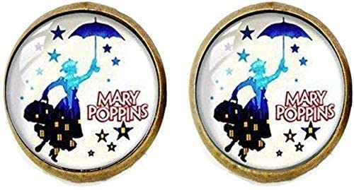 Mary Poppins Earrings Retro Style Handmade Jewelry Art Picture Jewelry