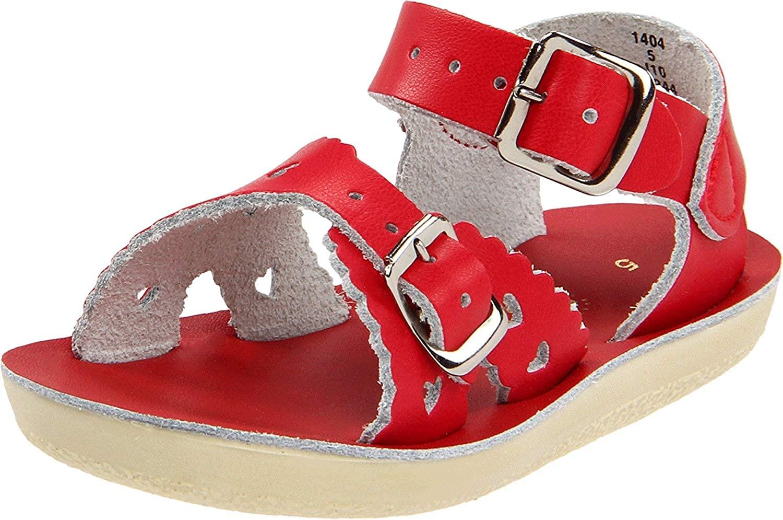 Salt Water Sandal by Hoy Shoes Girls Sun-San - Sweetheart (Toddler/Little Kid) Red Sandal 7 Toddler M