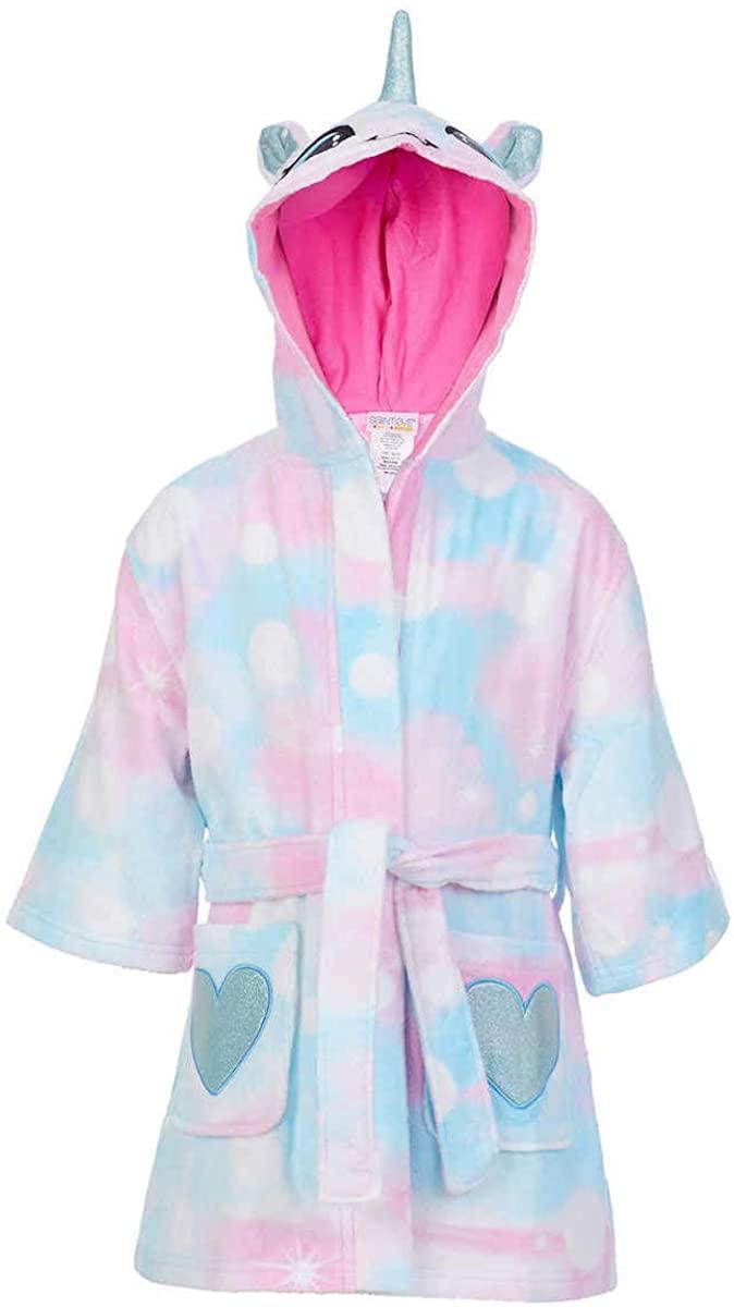 St. Eve Girls Youth Beach Cover-up Robe (Unicorn - New Design, Medium 7/8)