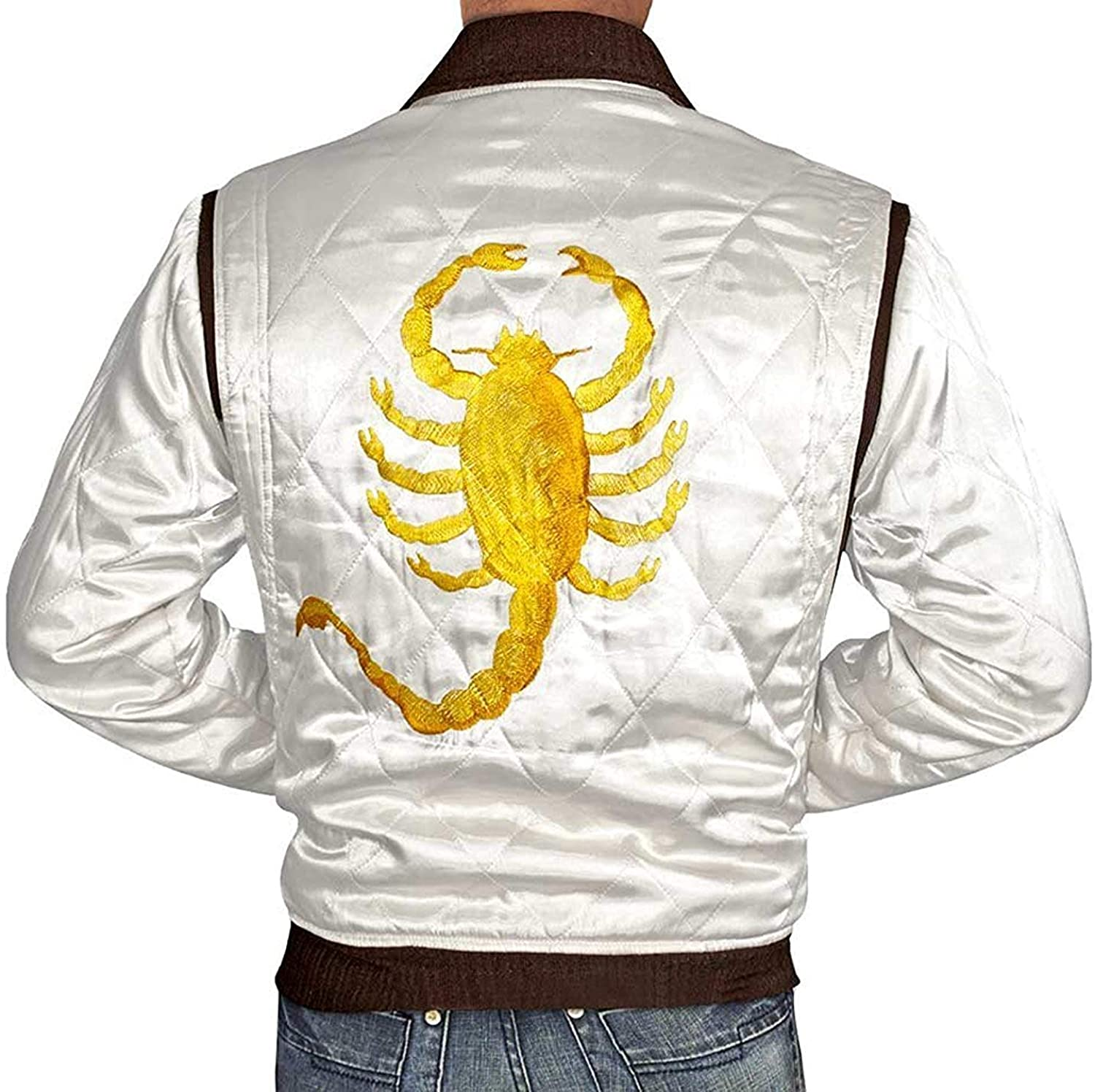 Blingsoul White Lightweight Bomber Jackets for Men ►Premium Quality◄