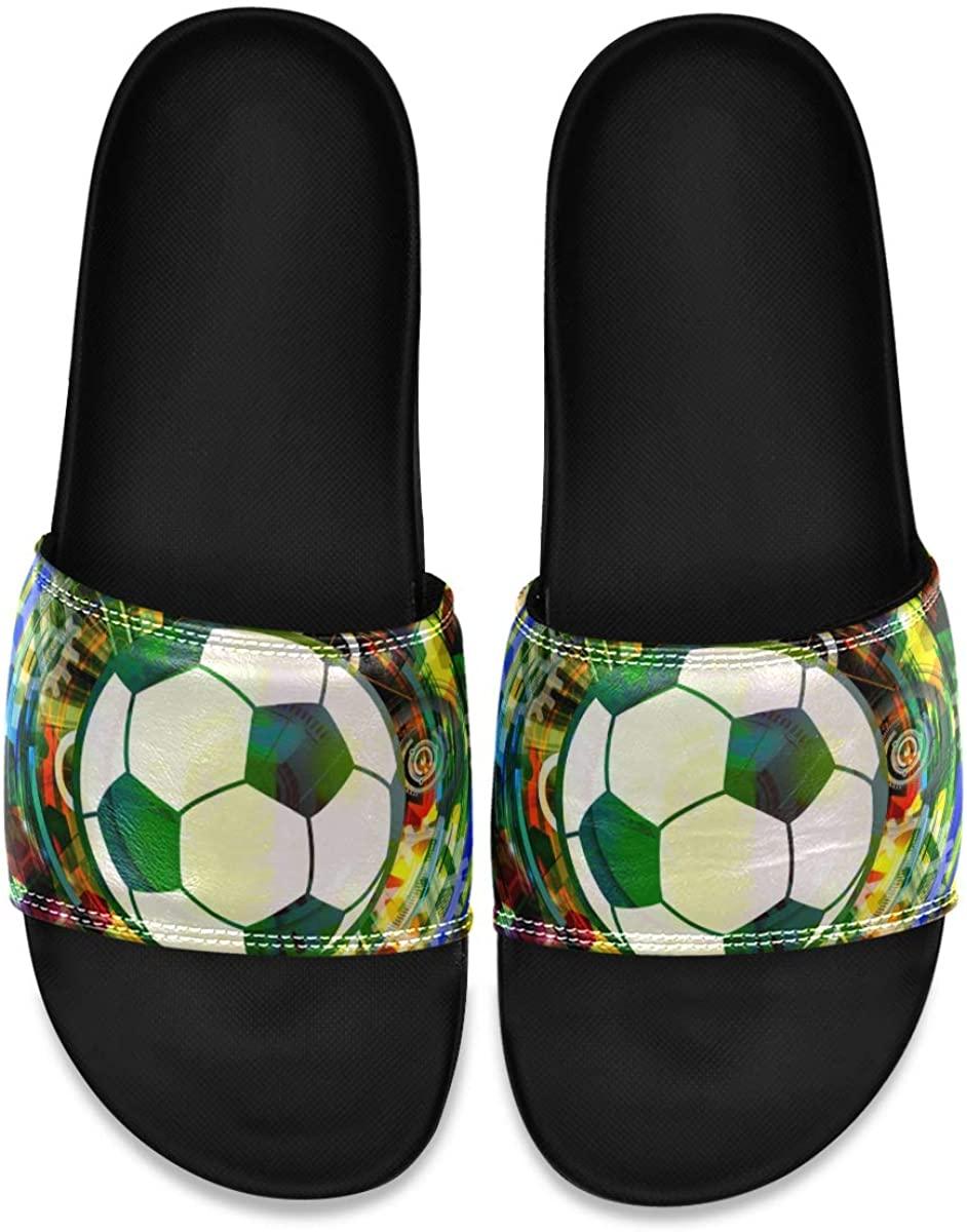 YQINING Men's Shower Slides Abstract Vector Image Slide Sandal, Slippers, Sandals for Men