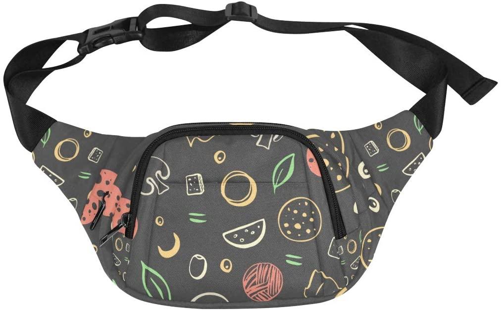 Sport Fanny Pack Natural Organic Creative Vegetable Adjustable Belt Waterproof Nylon Fenny Pack Fashion Crossbody Bag Fashion Waist Pack Men Fashion Shoulder Bag