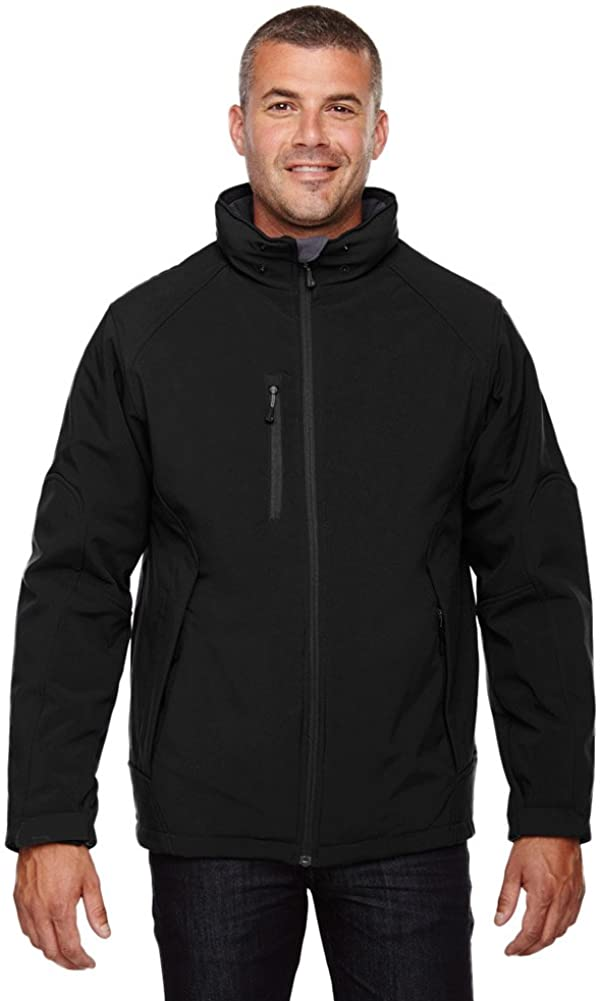 North End Men's Insulated Fleece Soft Shell Hood Jacket, CLASSIC NAVY 849