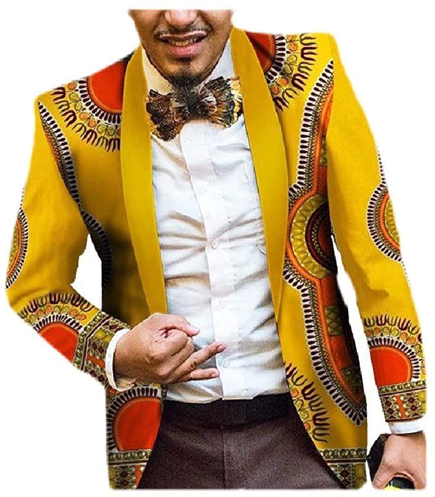 Losait Men African Oversized Single Button Stylish Premium Blazer Sport Coat