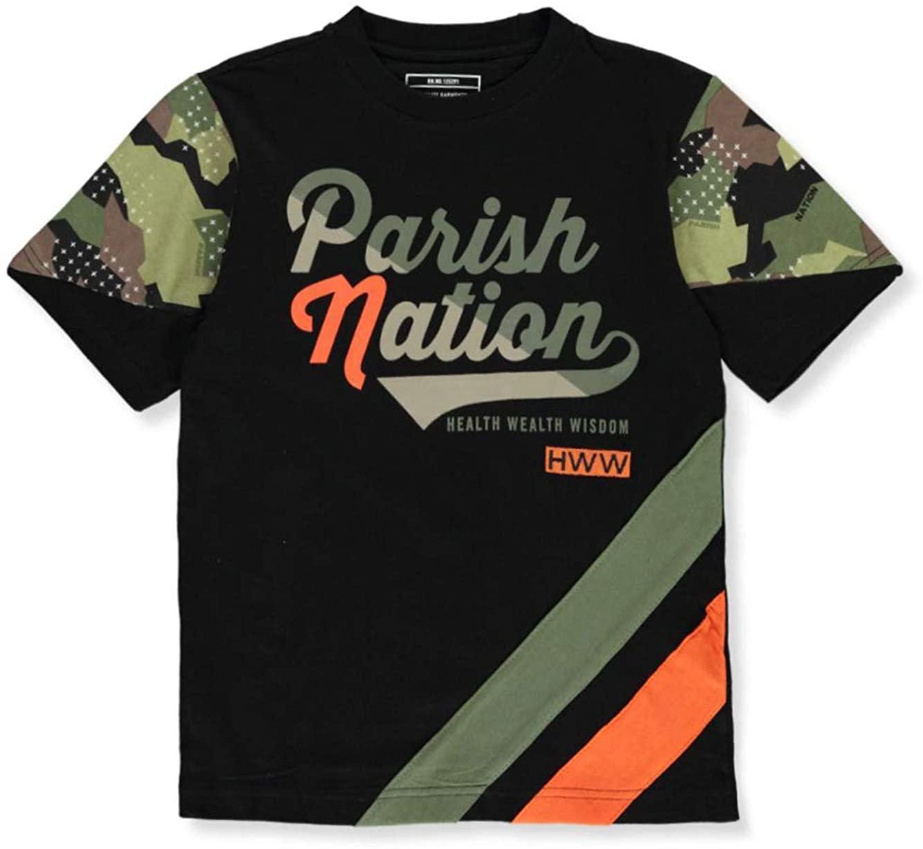 PARISH NATION Boys' Camo Sleeve T-Shirt