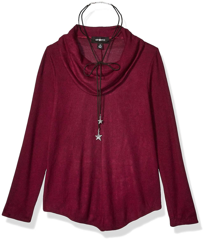 Amy Byer Girls' Long Sleeve Cowl Neck Tunic Sweater