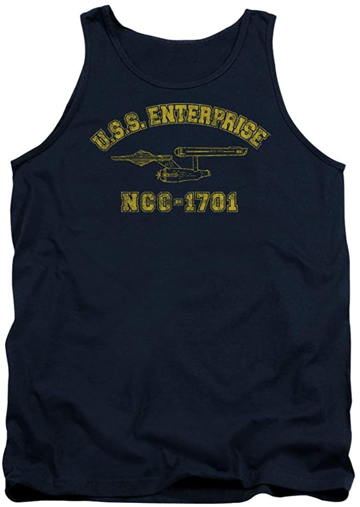 Star Trek Enterprise Athletic Officially Licensed Adult Tank Top Navy