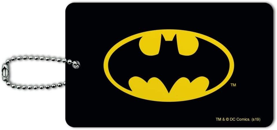 Batman Classic Bat Shield Logo Luggage Card Suitcase Carry-On ID Tag