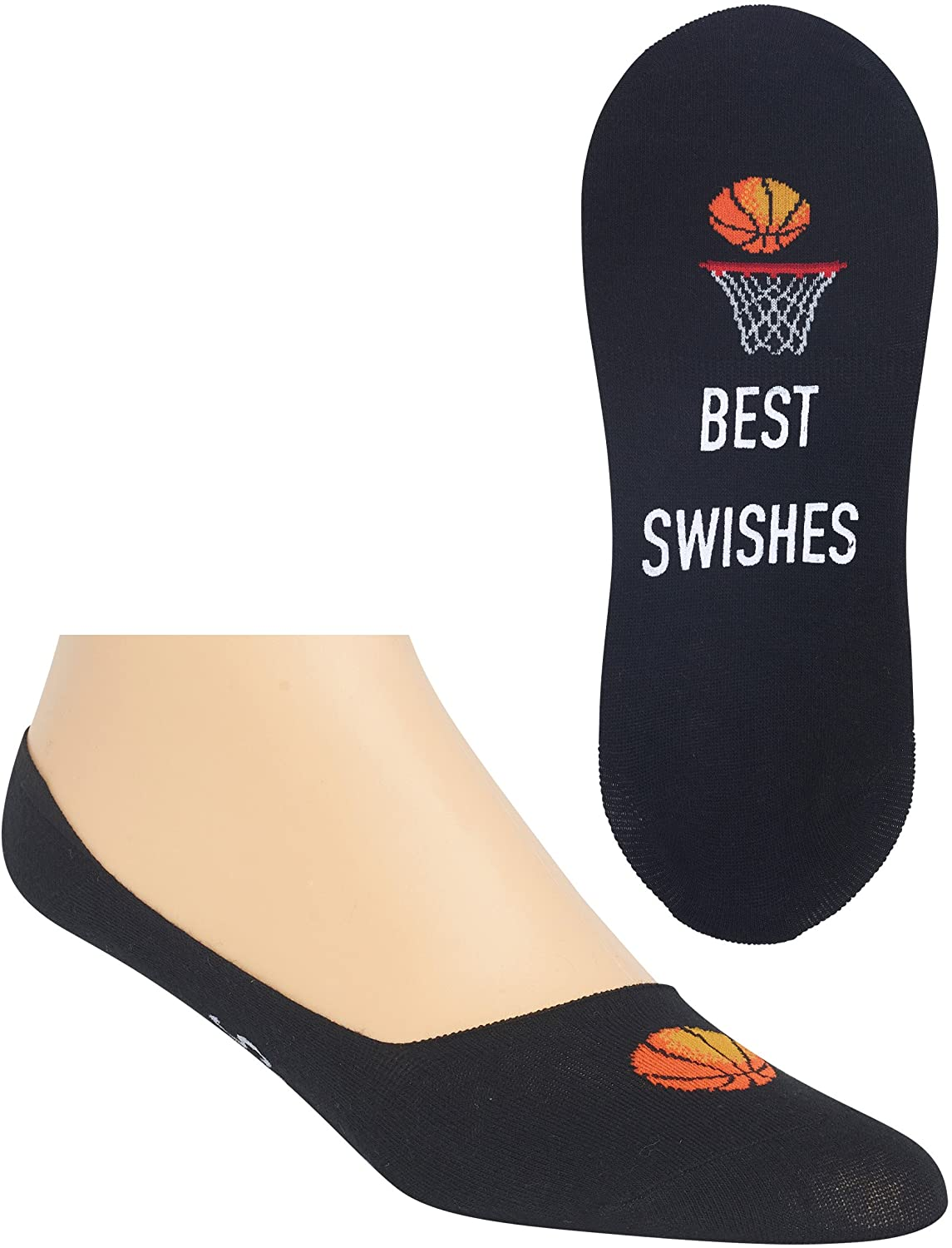 Hot Sox Men's Best Swishes liner Socks