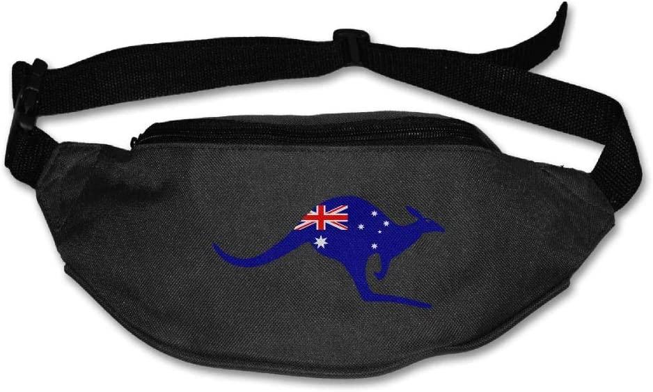 Eden Edies Kangaroo Australia Flag Unisex Waist Pack Bag Belt