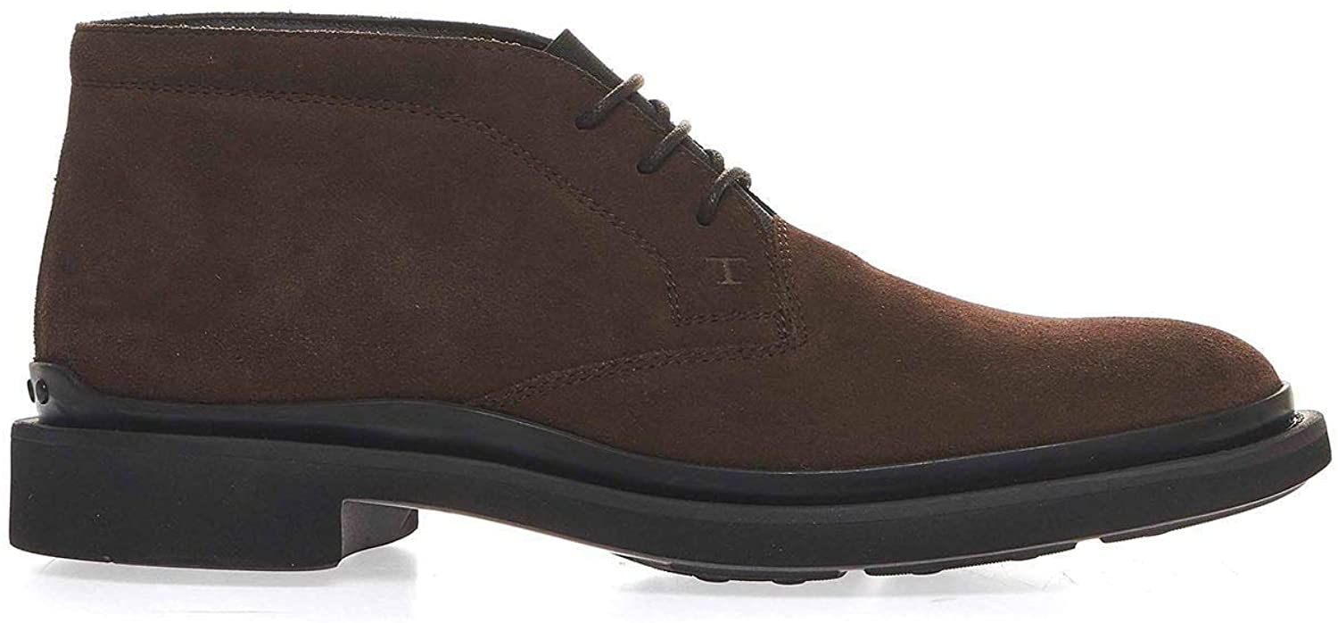 Tod's Luxury Fashion Man XXM89B0DM50HSES804 Brown Suede Ankle Boots | Fall Winter 20