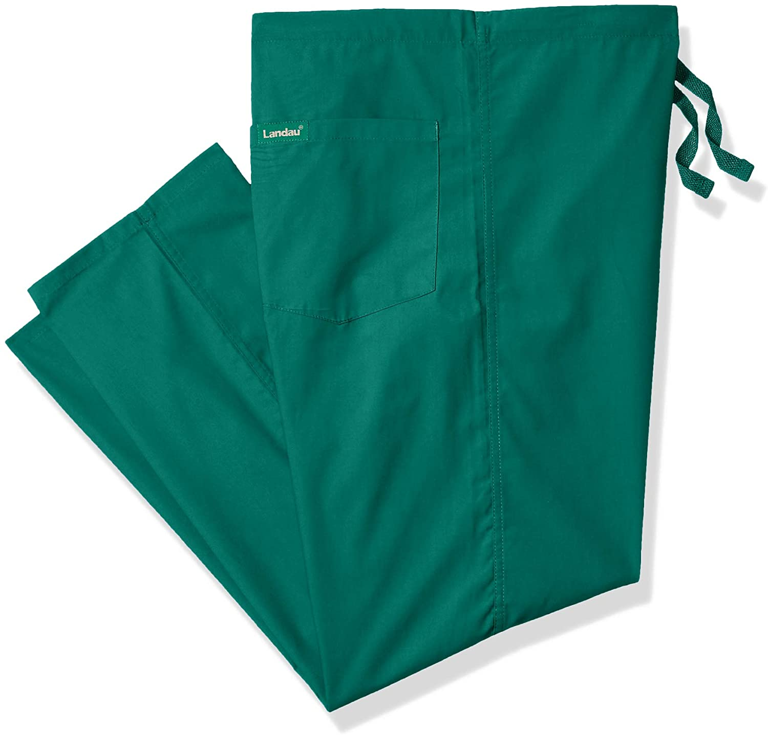 Landau 'Unisex Reversible Scrub Pant' Scrub Bottoms Hunter Green Medium Petite