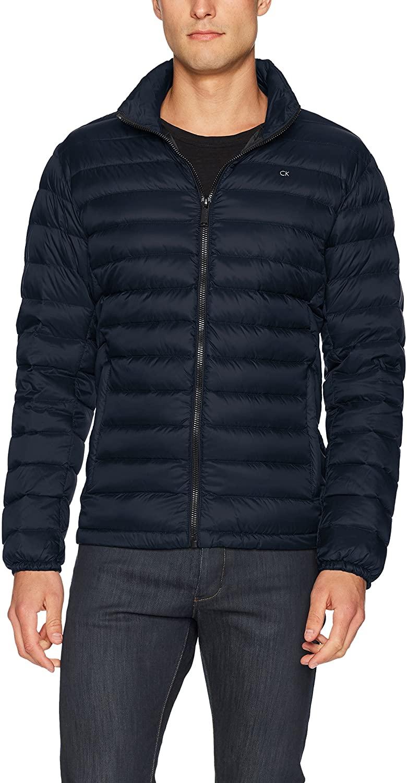 Calvin Klein Mens Lightweight Water Resistant Packable Down Puffer Jacket