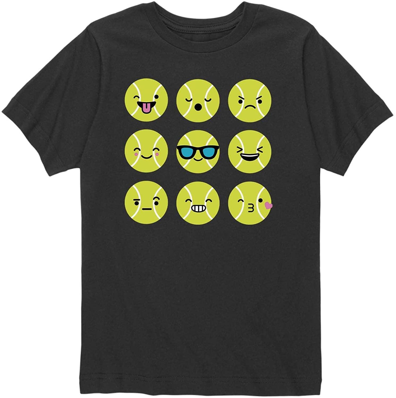 Tennis Emojis - Youth Short Sleeve Graphic T-Shirt