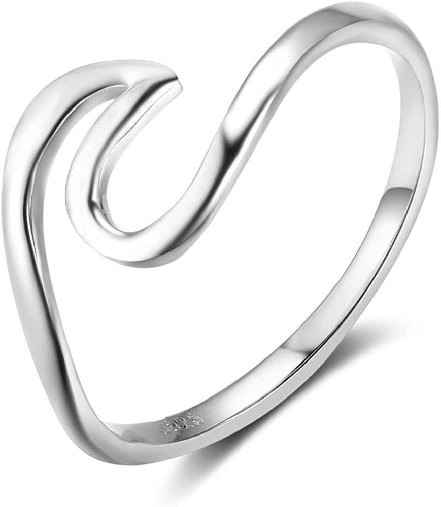 Furious Jewelry 925 Sterling Silver Simple Style Band Ring, Size 5 6 7 8
