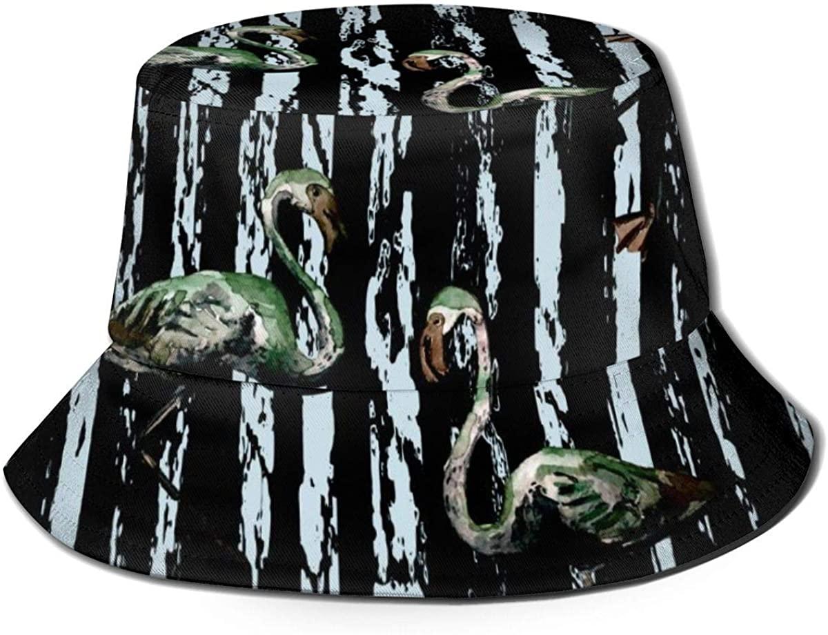 Bucket Hats for Teens Flamingo Beach Bucket Hat, Uv Bucket Hat, Foldable Sun Bucket Hat, Fisherman Hat