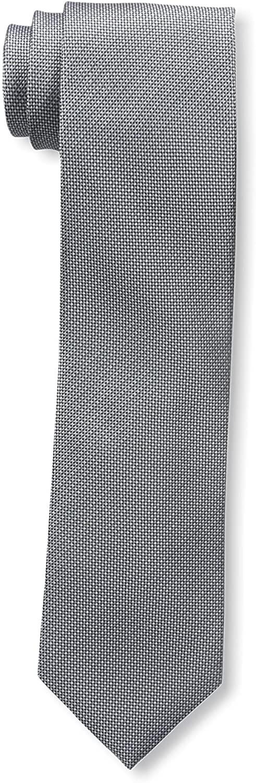 Franklin Tailored Men's Patterned Silk Tie, Silver