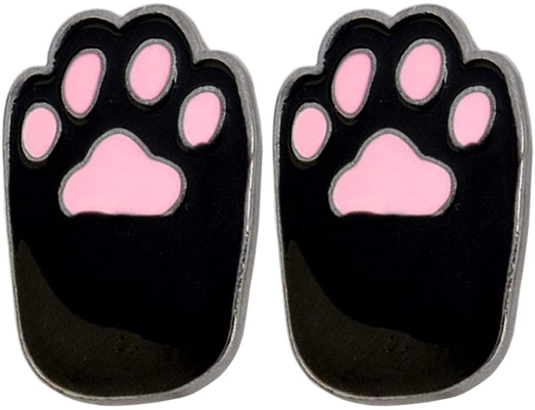 AnaPin Cat Paw Brooch Pin 2 Pcs Cute Kitten Paws Enamel Pins Lapel Badges