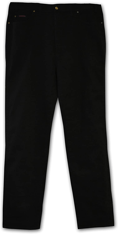 Grand River Big and Tall Stretch Demin Jeans - Black (56W x 28L)