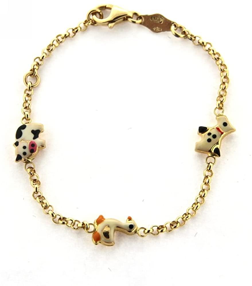 amalia 18K Yellow Gold Enamel Animal Bracelet