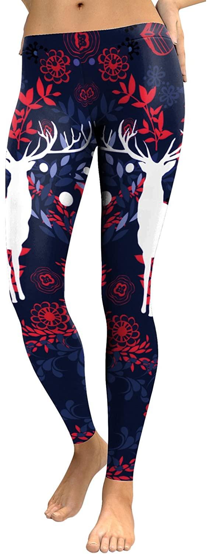 Idingding Comfy Pants Women's Ultra Soft Digital Printed Elastic High Waist Tights Leggings