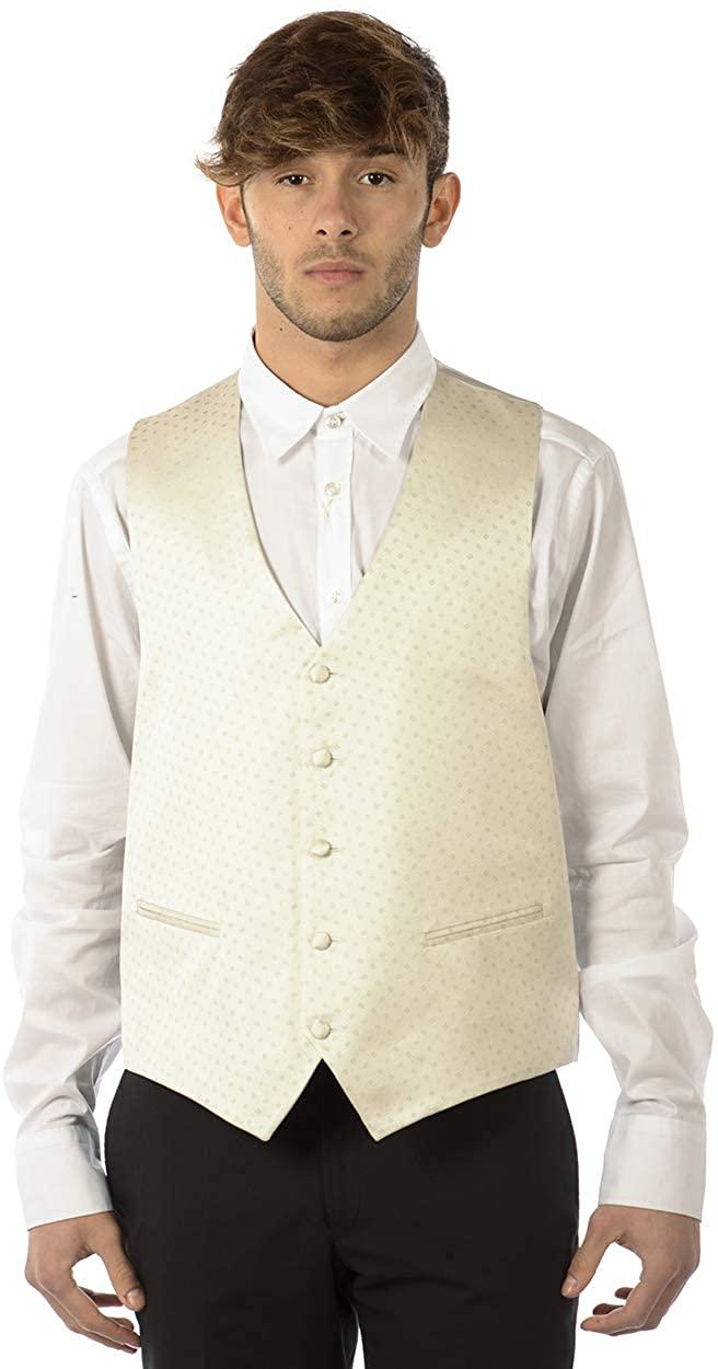 FABIO TOMA - Men'S Vest 1123 Grigio Ceremonia