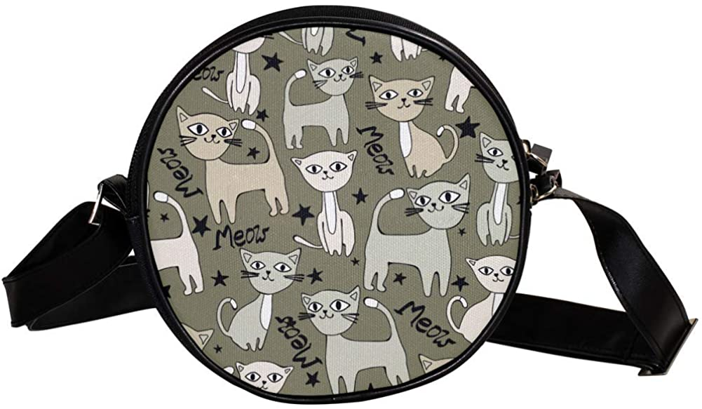 Coin Purse For Kids Cartoon Cat 01 Mini Crossbody Bag Girls Wallet