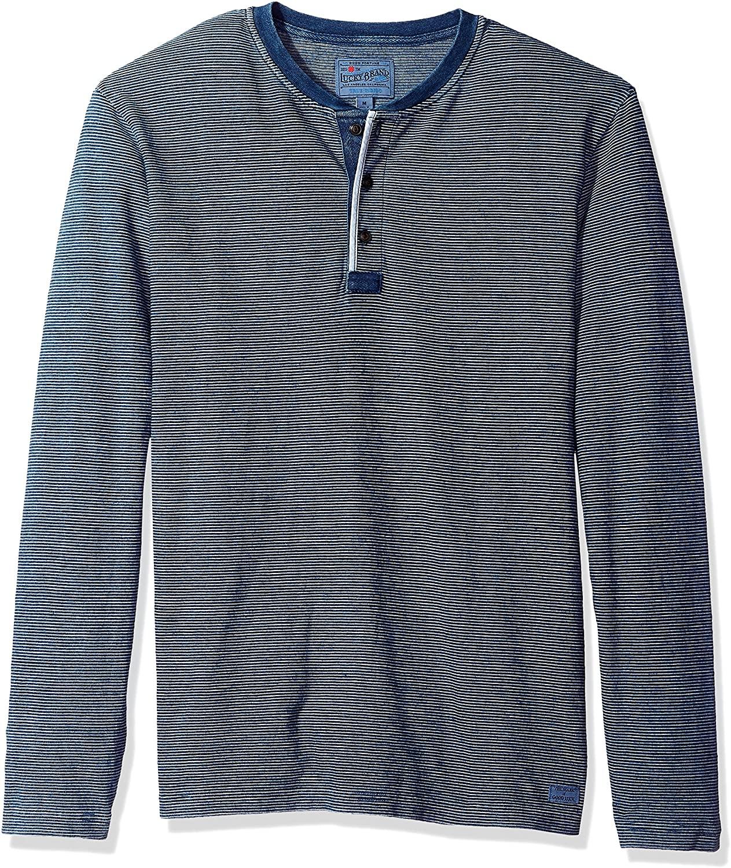 Lucky Brand Men's Casual Long Sleeve 3 Button Henley T Shirt
