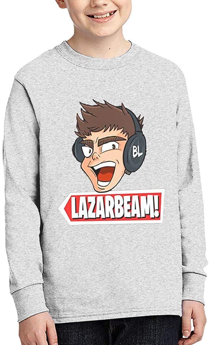 Boy Girl Teen Long Sleeve T-Shirt Lazarbeam Exquisite Fashion Creation Gray