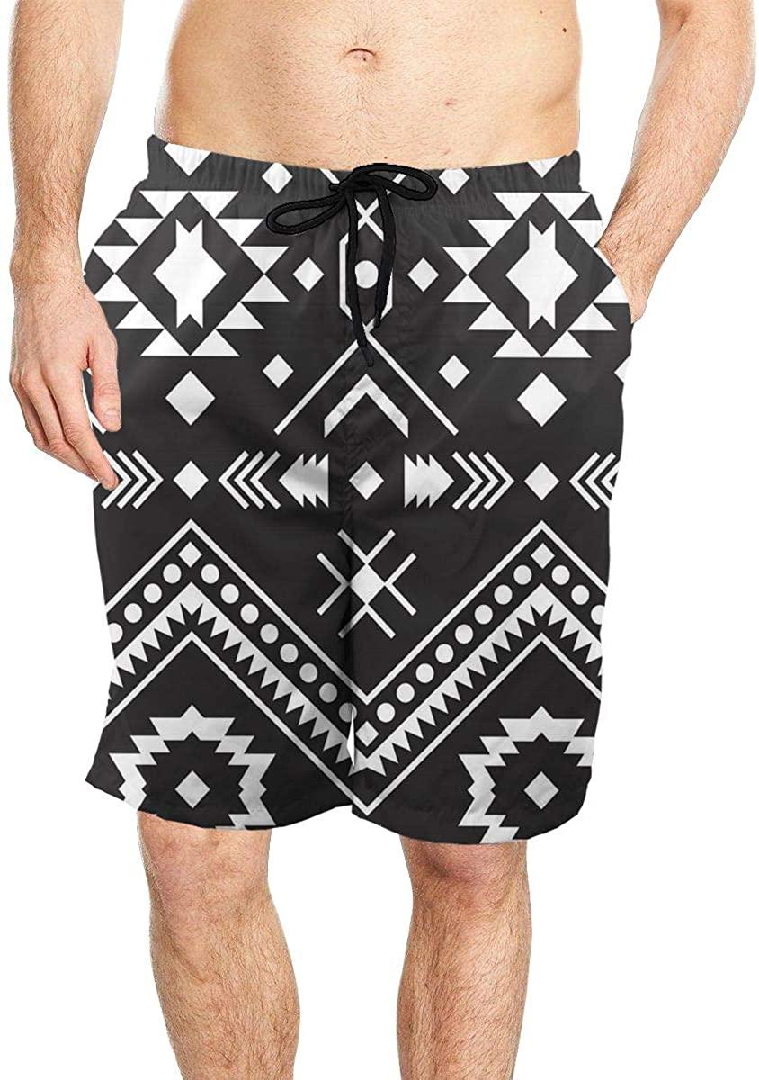 Ethnic Style Men's Seaside Beach Swim Trunks Quick-Drying Stretch Comfortable Shorts