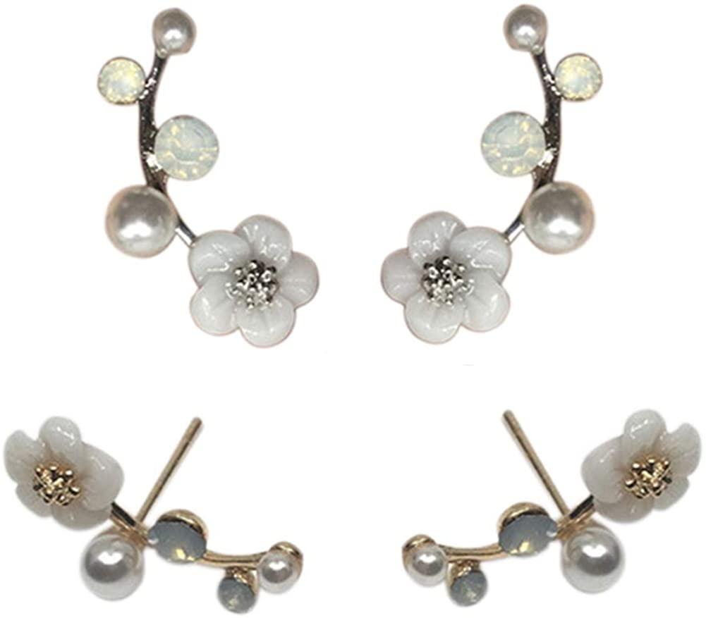 Cren Flower Stud Earrings Hypoallergenic Stud Ear Dainty Earring for Women Girls
