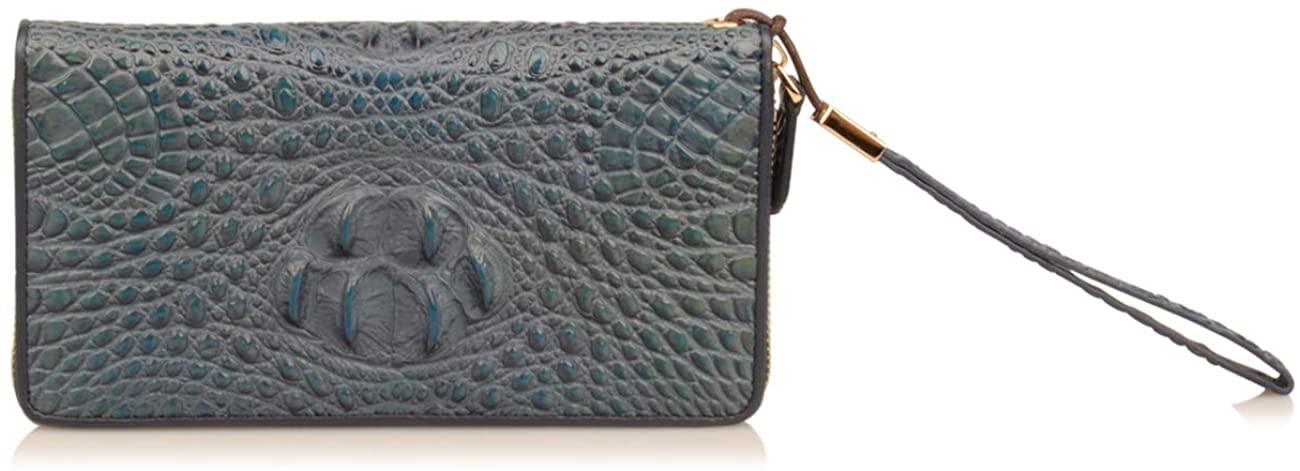Yundou Mens Crocodile Embossed Genuine Leather Wallet Clutch Bag