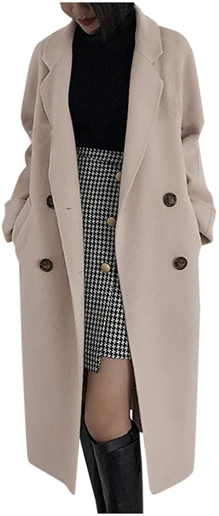 LEKODE Outwear Women's Solid Long Coat