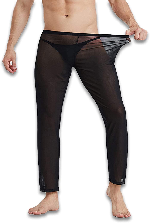 Sexy Men's Mesh See Thru Lounge Pants Lightweight, Stretchy, Sheer Mens Pants. Sexy Men Underwear.