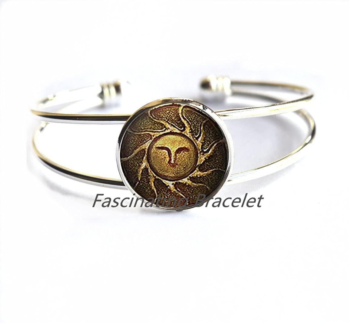 Sun Bracelet Sun Jewelry Radiant Sun Charm Bracelet Celestial Jewelry Sun Bracelets Bracelet Sun Charm Bracelet Initial Bracelet Boho,AQ144