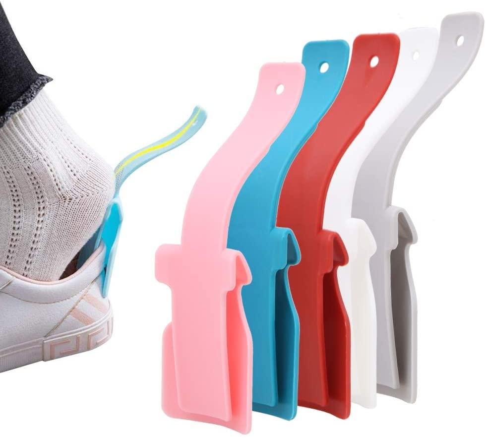 Set of 5 Lazy Shoe Helper Portable Shoe Lifting Handled Helper Shoe Horn Easy on Easy Off Shoe Helper for Pregnant Women Kids Elderly Seniors Disabled