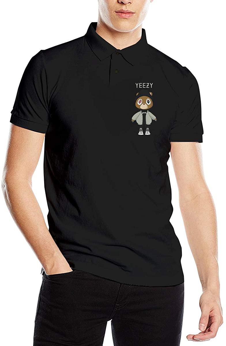 Kanye West Graduation Fashionable Men's Premium Polo Shirt Soft Short Sleeve T-Shirt Black