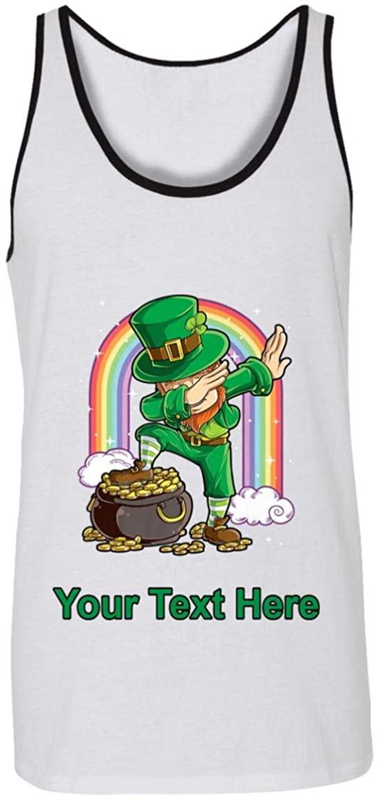 Dabbing Leprechaun St Patricks Day Boys Rainbow Tank Top - Unisex Tank for Men & Womens