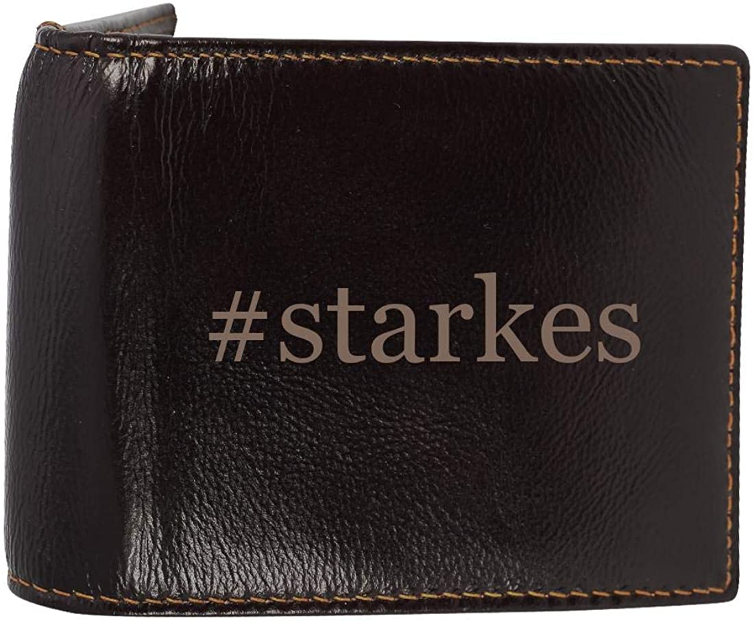 #starkes - Genuine Engraved Hashtag Soft Cowhide Bifold Leather Wallet