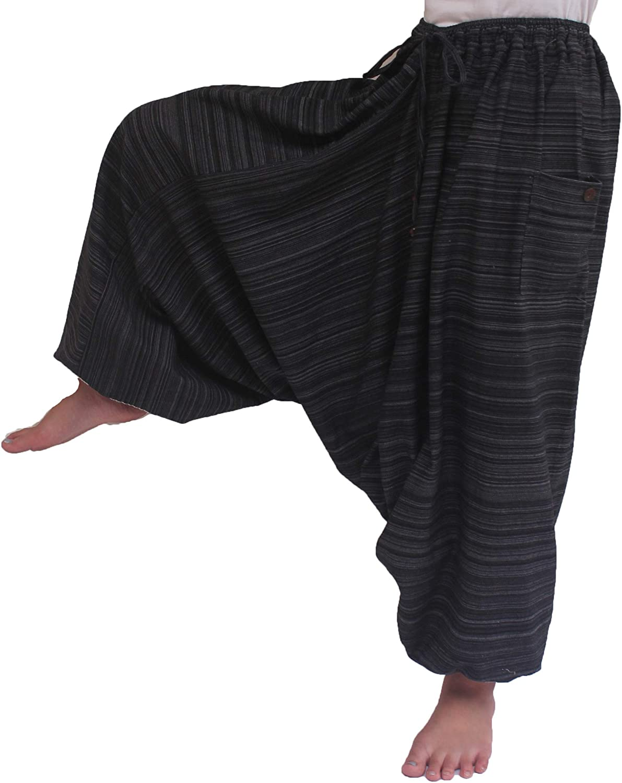 ChiangmaiThaiShop Cotton Baggy Boho Aladin Yoga Harem Pants