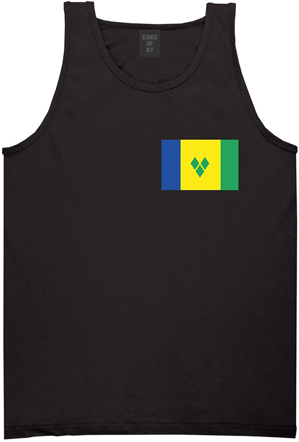 Saint Vicent and the Grenadines Flag Country Chest Tank Top Shirt