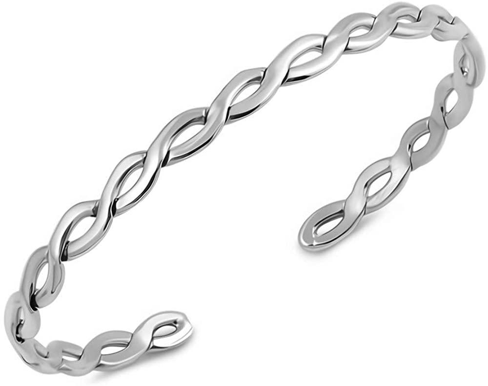 Glitzs Jewels 925 Sterling Silver Bangle Bracelet | Jewelry for Women and Girls