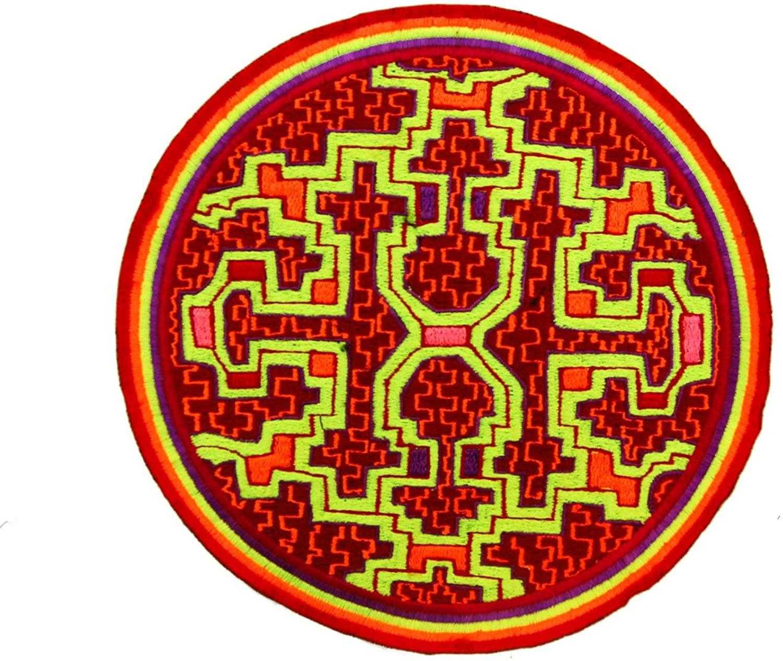 ImZauberwald Ayahuasca Icaro art ~7inch Shipibo handmade psychedelic embroidery