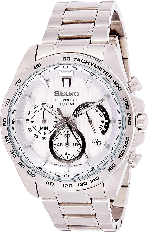 Seiko Men's Chronograph Quartz Watch with Stainless Steel Strap SSB297P1