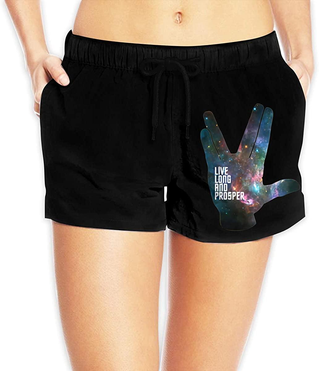 N/C Live Long and Prosper Women's Beach Shorts Quick-Drying Swimwear Summer Sports Pants